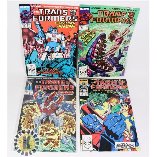 MARVEL COMICS THE TRANSFORMERS  #47-50