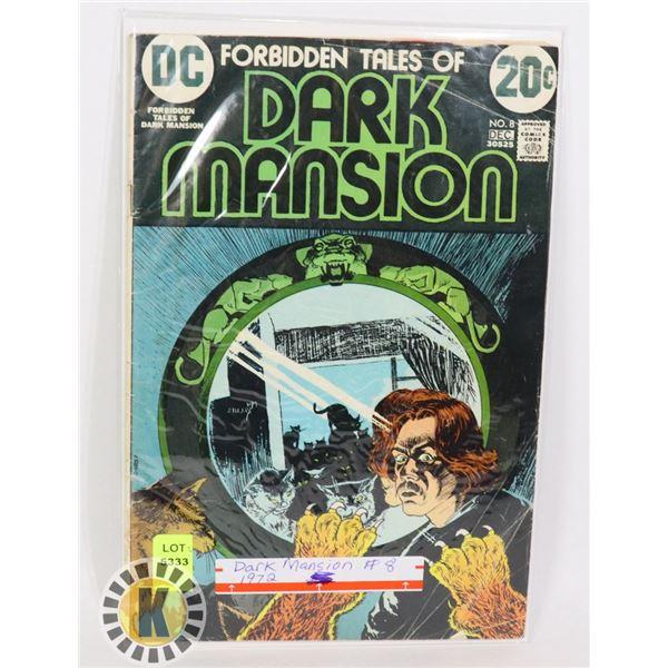 DC COMICS THE DARK MANSION #8 1972