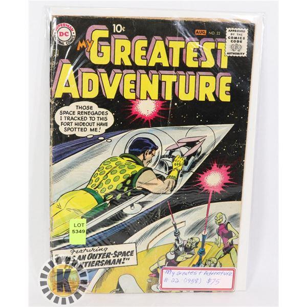DC COMICS MY GREATEST ADVENTURES #22 1958