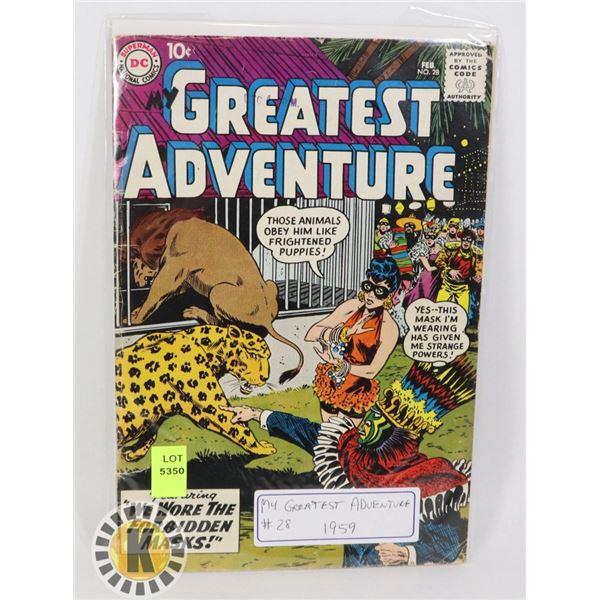 DC COMICS MY GREATEST ADVENTURES #28 1959