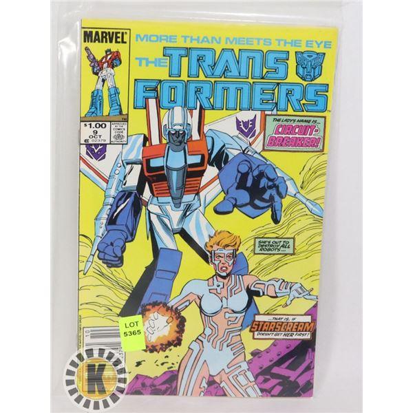MARVEL COMICS THE TRANSFORMERS #9 OCT