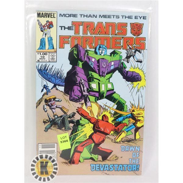 MARVEL COMICS THE TRANSFORMERS #10 NOV