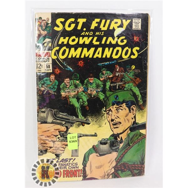 MARVEL COMICS SGT. FURY AND HIS HOWLINGS COMMANDOS