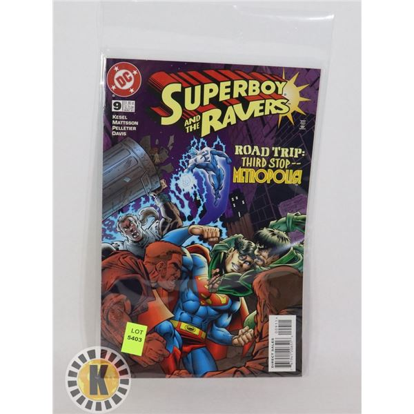 DC COMICS SUPERBOY AND THE RAVEN #9 MAY '97