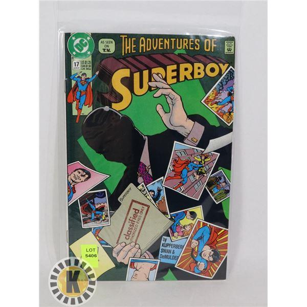 THE ADVENTURE OF SUPERBOY #17 JUN '91