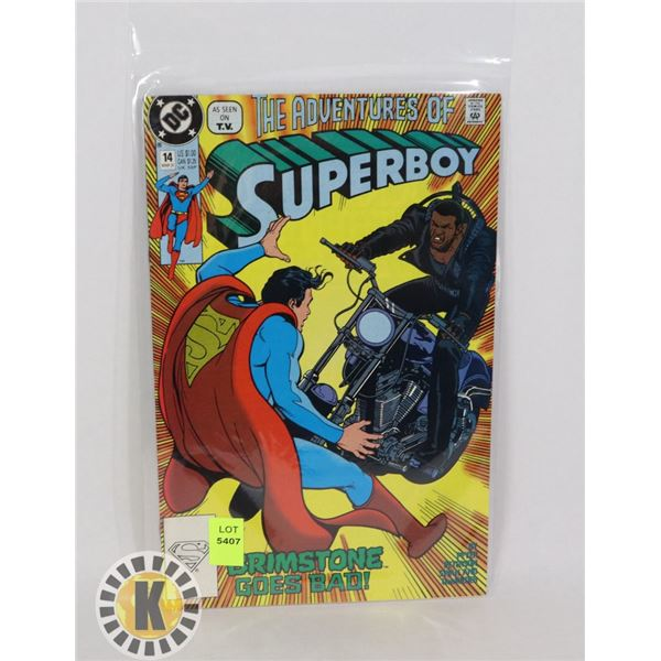 THE ADVENTURE OF SUPERBOY #14 MAR 91'