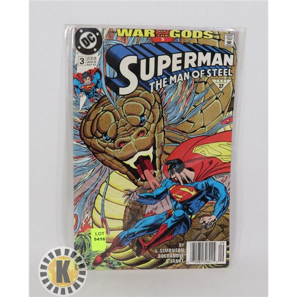 SUPERMAN THE MAN OF STEEL #3 SEP '91
