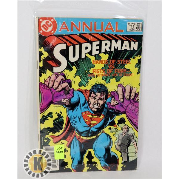 DC COMICS ANNUAL SUPERMAN #12 '86