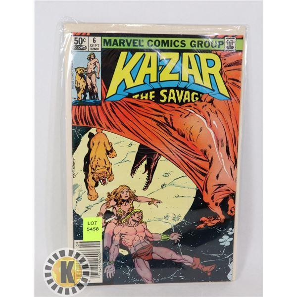 KA-ZAR   THE SAVING #6