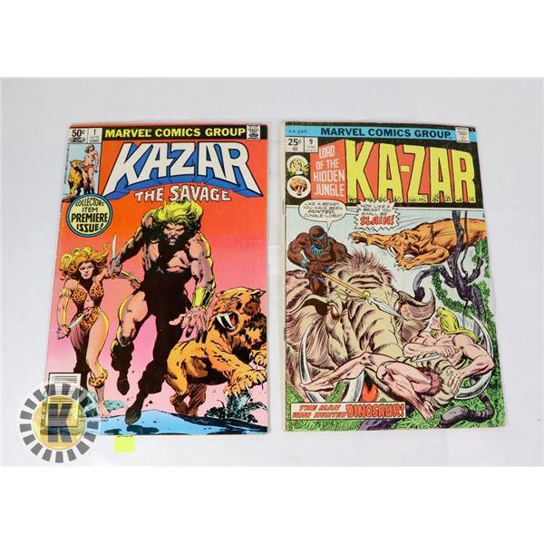 KA-ZAR   LORD OF THE HIDDEN JUNGLE  #9 AND KA-ZAR