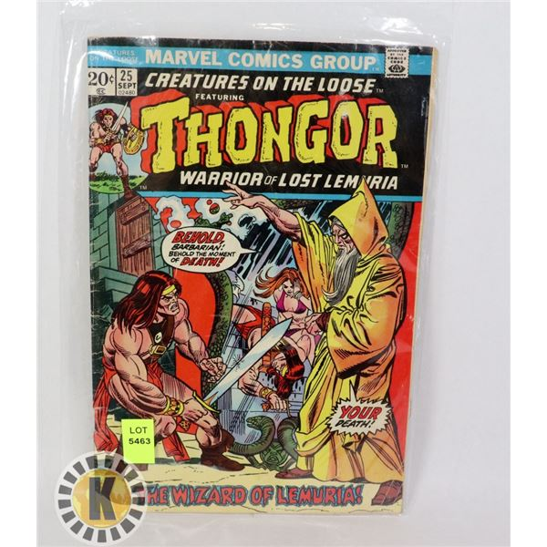 """CREATURES ON THE LOOSE """"THONGOR"""" #25"""