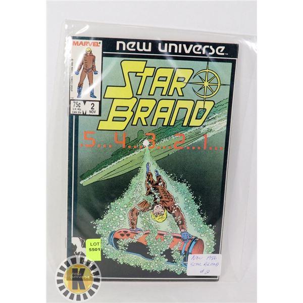 NEW UNIVERSE STAR BRAND #2 '86