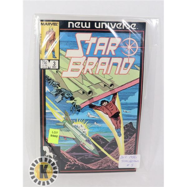 NEW UNIVERSE STAR BRAND #3 '86