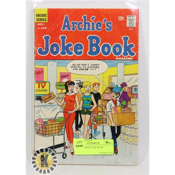 ARCHIE SERIES JOKE BOOK
