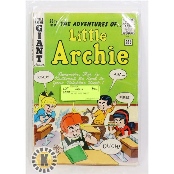 LITTLE ARCHIE 26TH ISSUE