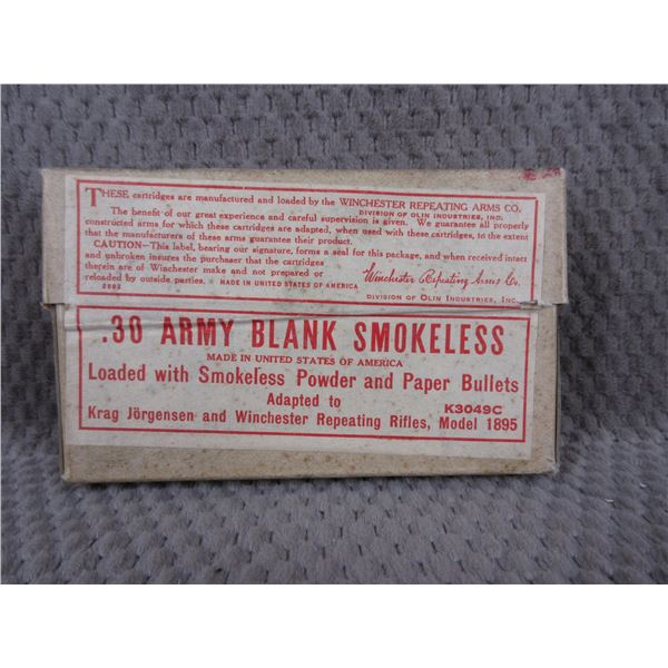 Collector Ammo - Winchester .30 Army Blank Smokeless
