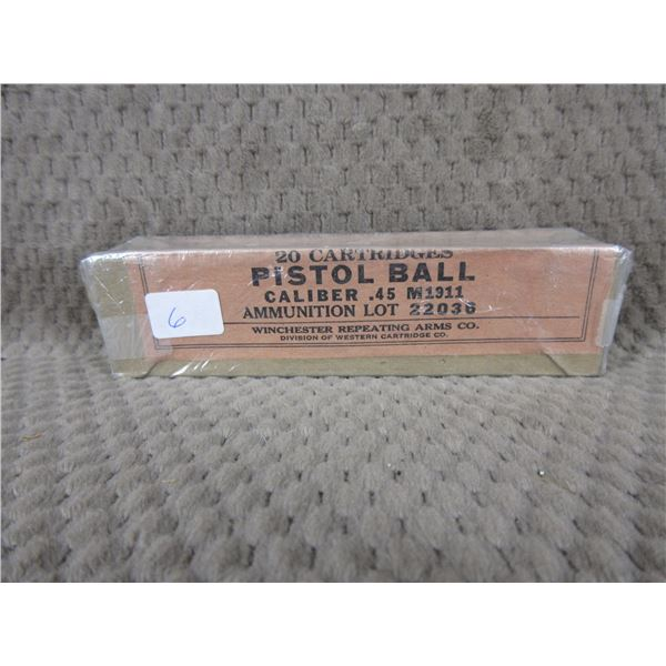 Collector Ammo - Winchester .45 M1911 Pistol Ball