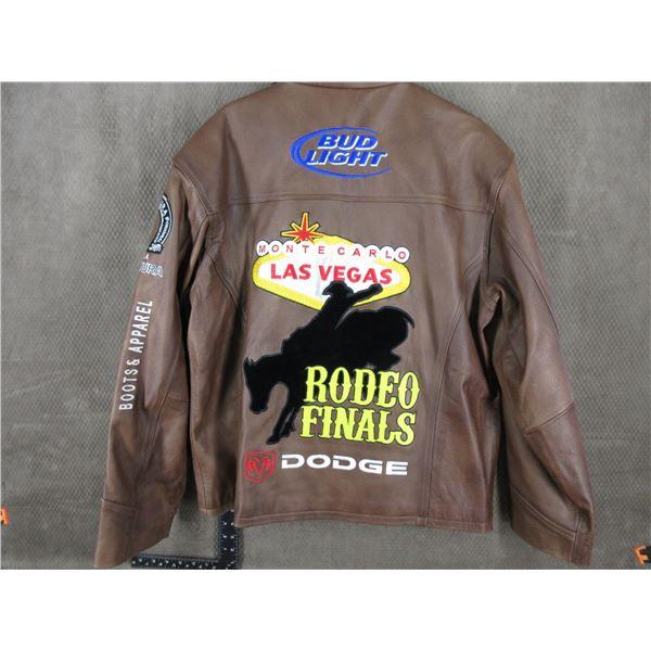 Las Vegas Rodeo Finals Mens Leather Jacket XL