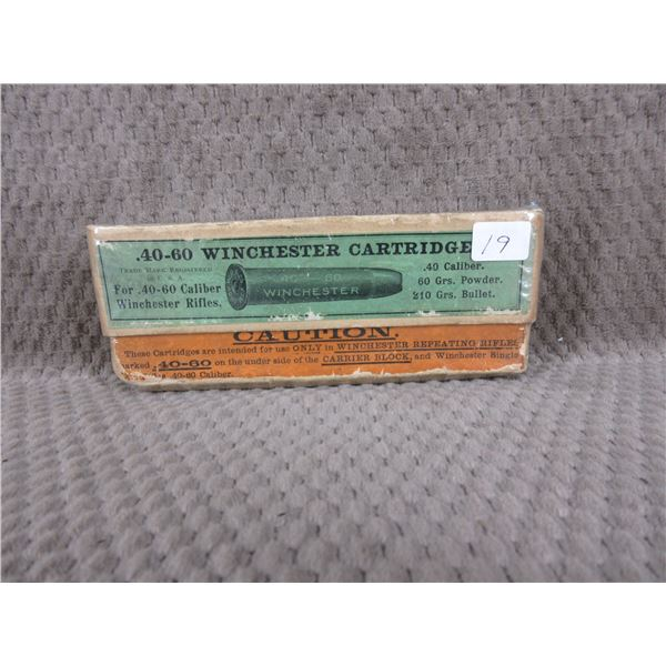 Collector Ammo - Winchester 40-60 - 210 gr, Box of 20
