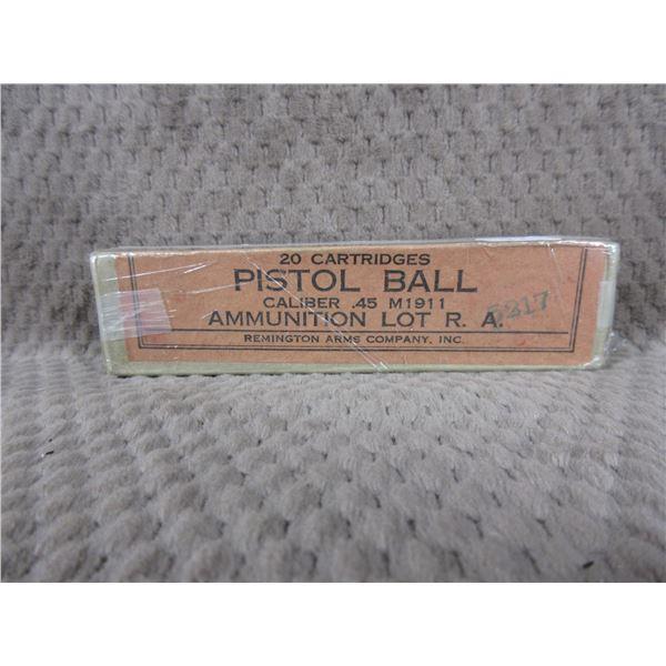 Collector Ammo - Remington .45 M1911 Pistol Ball