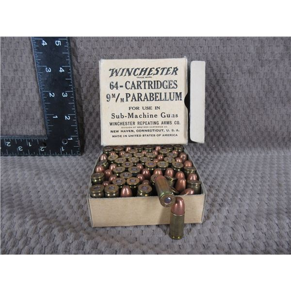 Collector Ammo - Winchester 9MM Parabellum for use in Sub-Machine Guns
