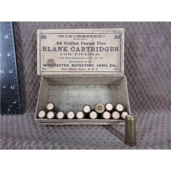 Collector Ammo - Winchester 44 WCF Blank Cartridges