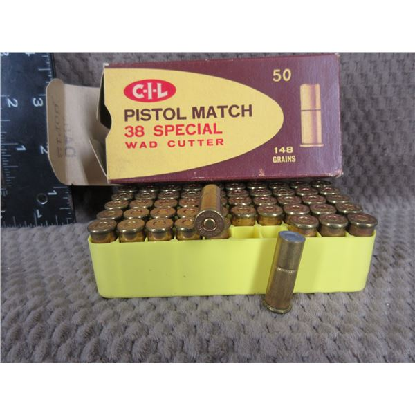 Collector Ammo - C-I-L 38 Special Pistol Match Wad Cutter