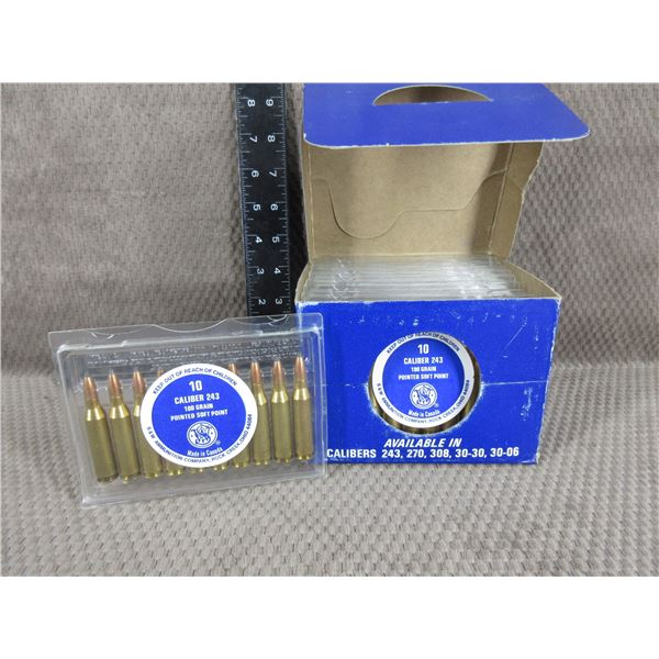 Collector Ammo - S&W No Rattle - Pocket Size 243 Win