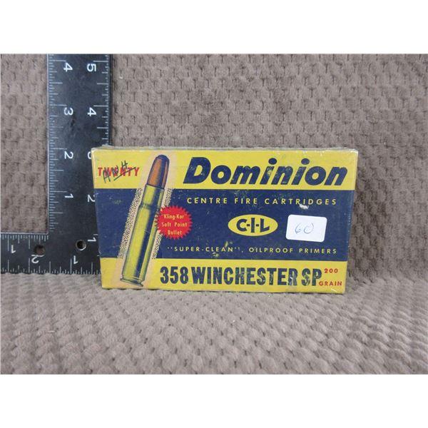 Collector Ammo - Dominion 358 Winchester - Box of 20