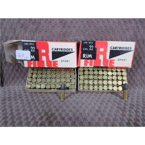 Collector Ammo - Nitron Poland 22 Long Rife - 2 Boxes of 50