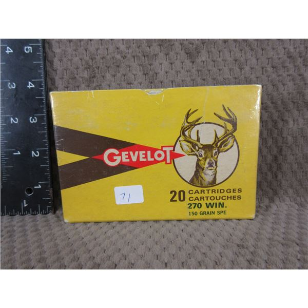 Collector Ammo - Gevelot 270 Win. made in Canada
