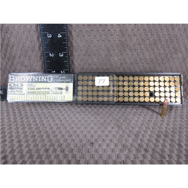 22 Long Rifle Browning High Velociity  Box of 100 Opened