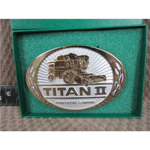 Titan II John Deer Combine Belt Buckle - Appears New