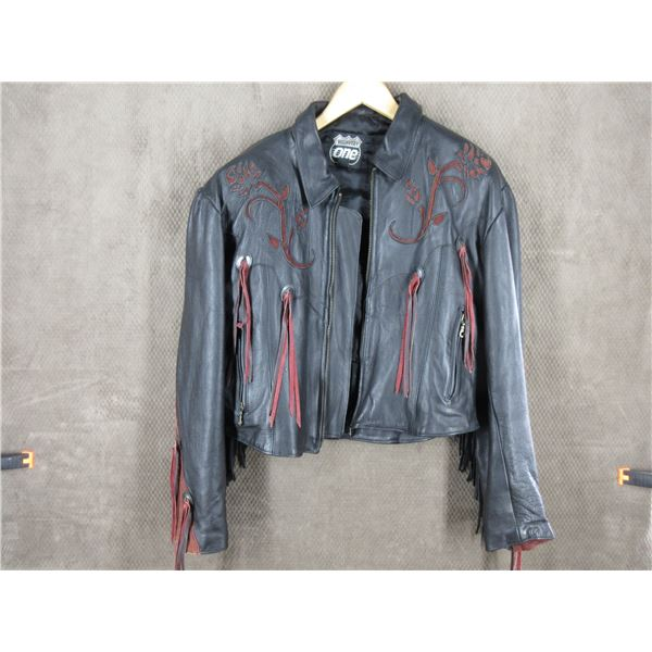 Ladies Size XL Leather Jacket - If used it was very lightly