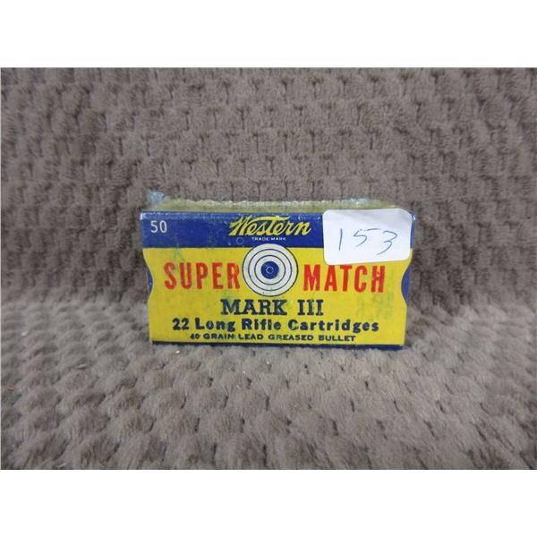 Collector Ammo -Western Super Match Mark III 22 Long Rifle Box of 50