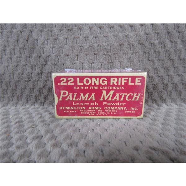Collector Ammo Remington Palma Match 22 Long Rifle Box of 50