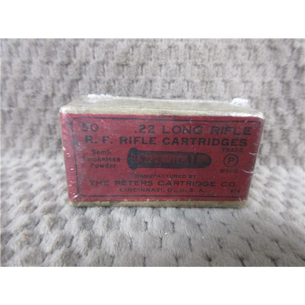 Collector Ammo R.F. Rifle Cartridges 22 Long Rifle