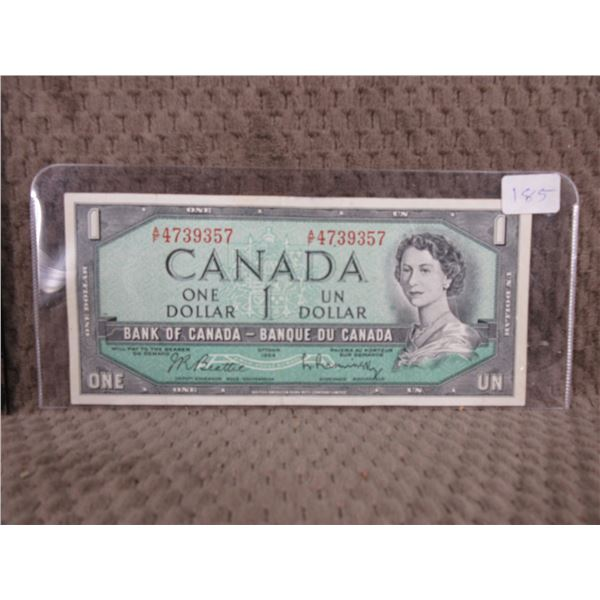 1954 Canada One Dollar Bill