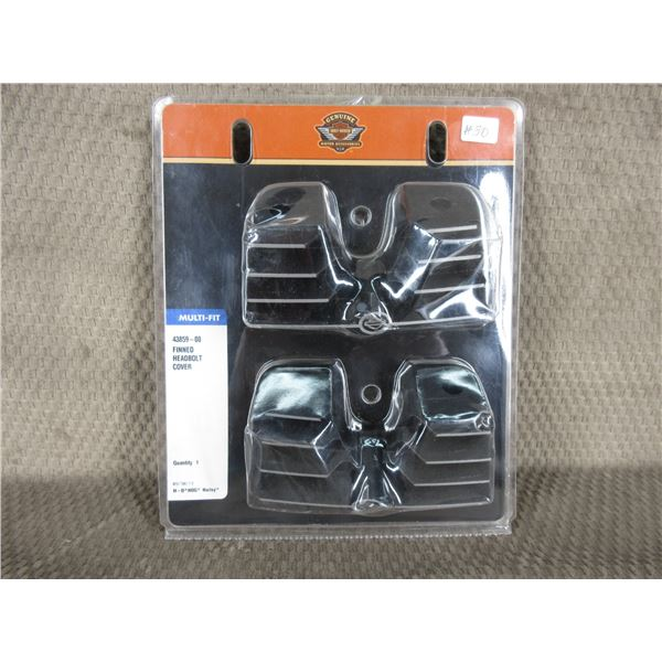 Harley Finned Head Bolt Covers #43859-00