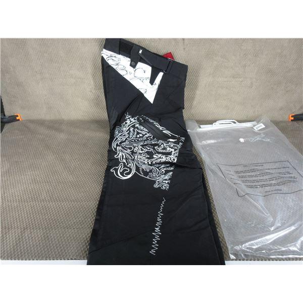 Fox Motorcycle Short Cut Pants W28 Zipper Leggings