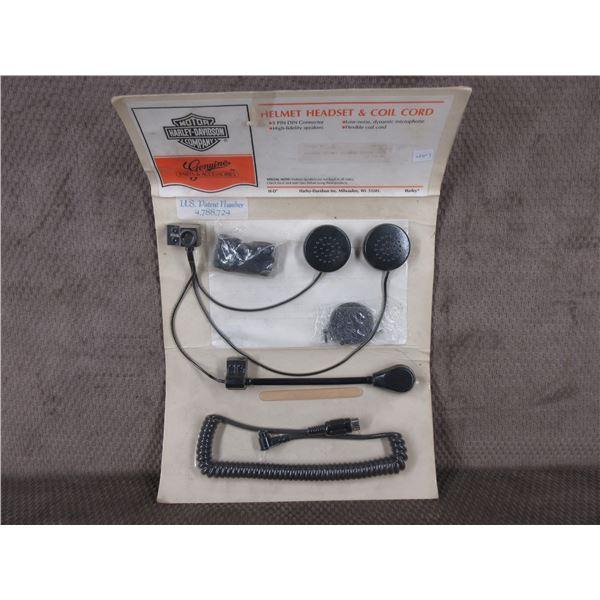 Harley Davidson Helmet Headset & Coil Cord # 77126-88