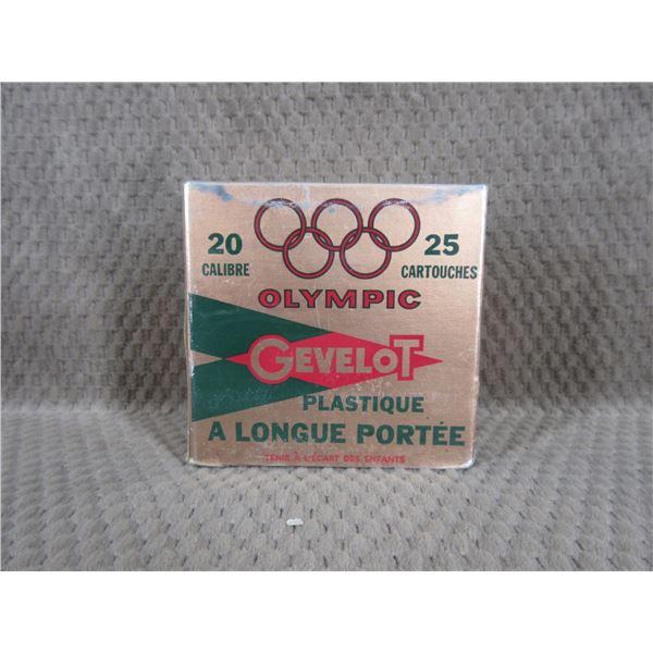 Collector Ammo Gevelot Olympic 20 Ga 2 3/4 Box of 25