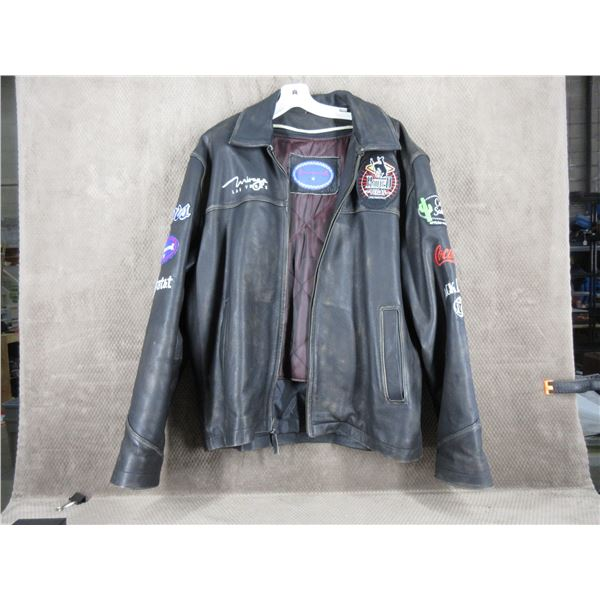 Las Vegas Rodeo Finals Mens Leather Jacket XL - Used