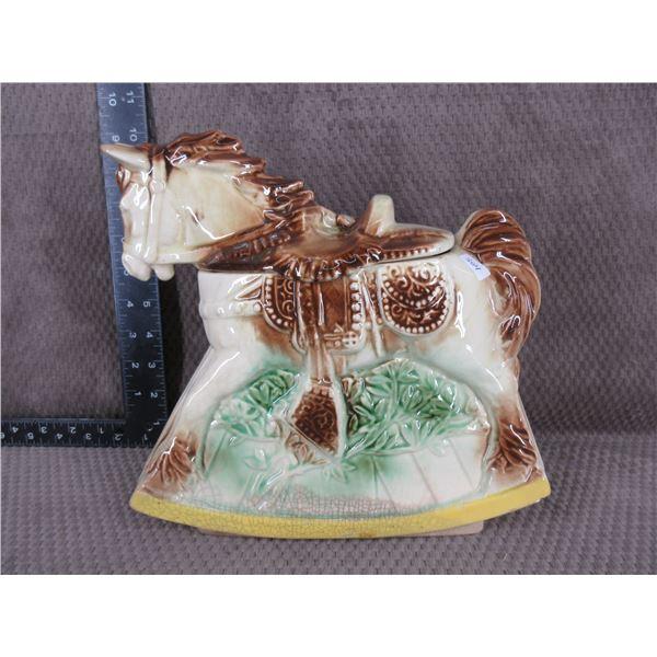 Ceramic Horse Cookie Jar