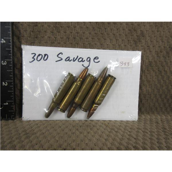 300 Savage shells set of 5