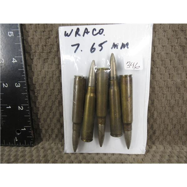 WRA CO. 7.65 MM shells set of 5