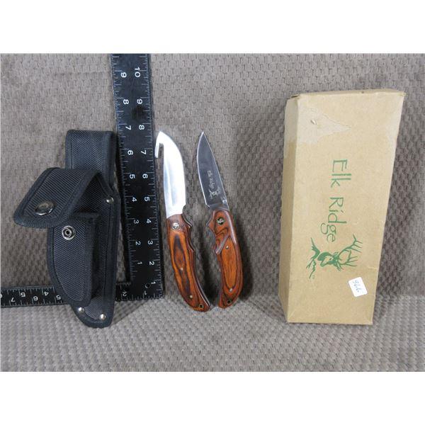 Elk Ridge Fixed Blade and Folding Knife Set