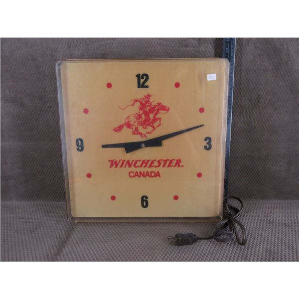 Winchester Canada Lighted Clock by Duralite