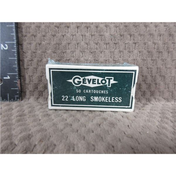 Collector Ammo - Gevelot 22 Long - Box of 50