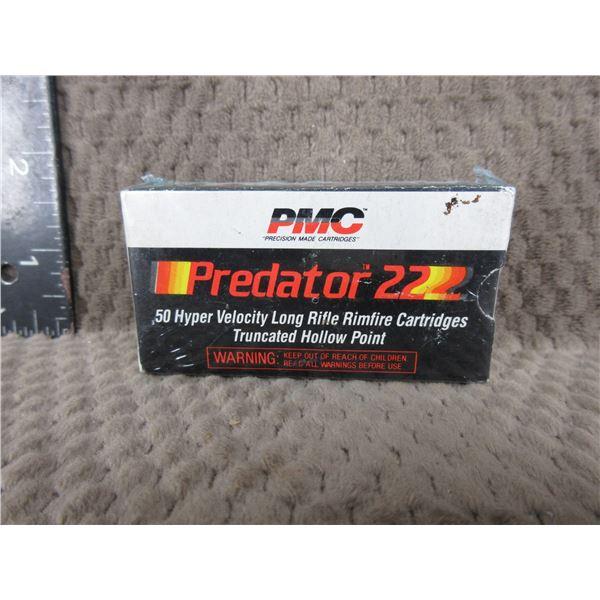 Collector Ammo - PMC Predator 22 Long Rifle - Box of 50